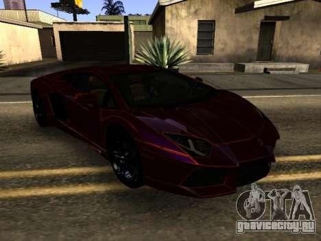 Lamborghini Aventador Tron для GTA San Andreas вид сзади