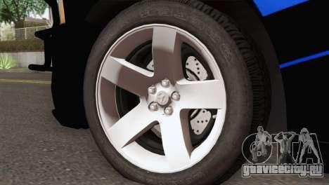 Dodge Charger 2013 LSPD для GTA San Andreas вид сзади слева