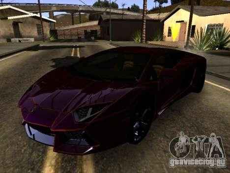 Lamborghini Aventador Tron для GTA San Andreas вид слева