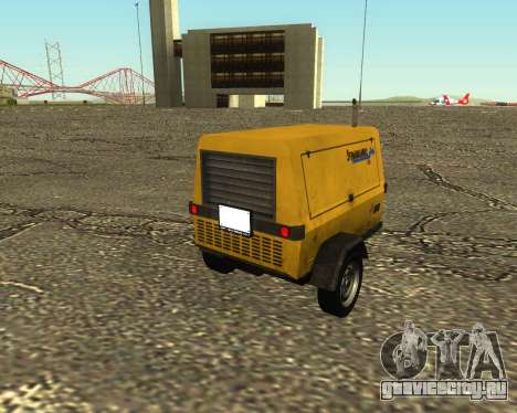 Multi Utility Trailer 3 in 1 для GTA San Andreas вид слева