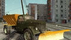 ГАЗ 51 снегоуборочная машина