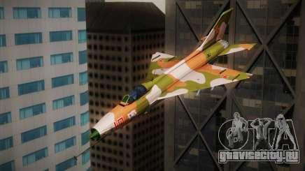 MIG 21 Russian Camo Force для GTA San Andreas