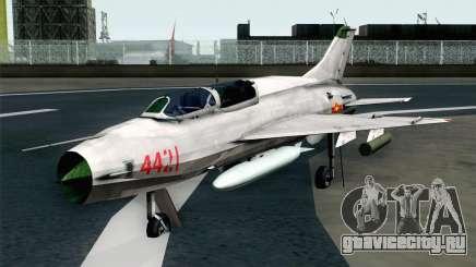 MIG-21UM Vietnam Air Force для GTA San Andreas