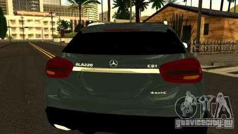 Mercedes-Benz GLA220 2014 для GTA San Andreas вид сбоку