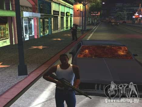 Кровь на окнах автомобиля для GTA San Andreas