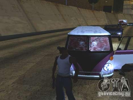 Кровь на окнах автомобиля для GTA San Andreas третий скриншот