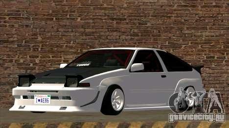 Toyota AE86 для GTA San Andreas вид сзади слева