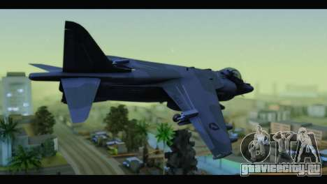AV-8B Harrier Estovakian Air Force для GTA San Andreas вид слева