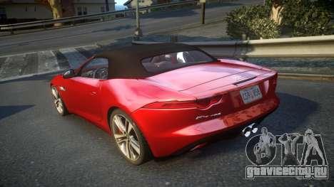 Jaguar F-Type v1.6 Release [EPM] для GTA 4 вид сзади слева