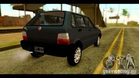Fiat Uno Fire Mille для GTA San Andreas вид слева