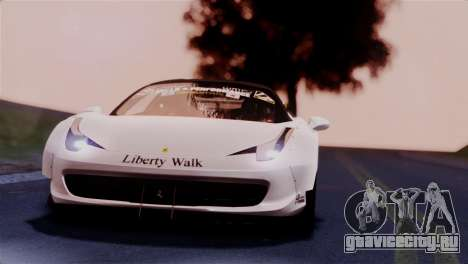 Ferrari 458 Italy Liberty Walk LB Performance для GTA San Andreas