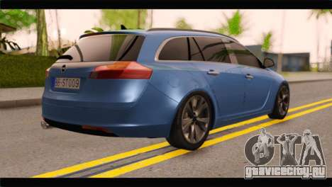 Opel Insignia Wagon для GTA San Andreas вид слева
