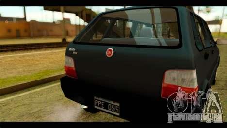 Fiat Uno Fire Mille для GTA San Andreas вид справа