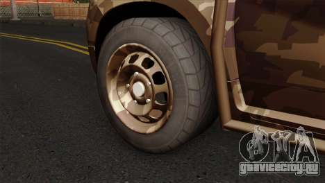 Dacia Duster Army Skin 4 для GTA San Andreas вид сзади слева