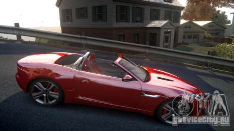 Jaguar F-Type v1.6 Release [EPM] для GTA 4 вид сзади