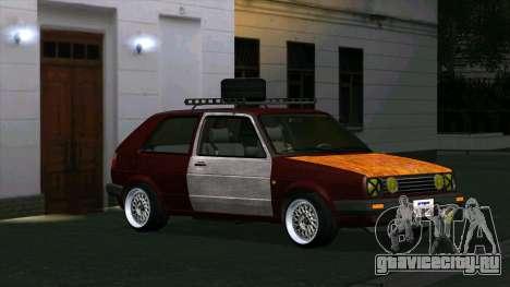 Volkswagen Golf II Rat Style для GTA San Andreas вид слева