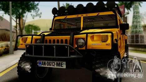 Hummer H1 6-Wheel для GTA San Andreas вид сзади слева