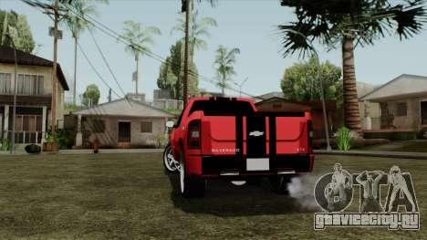 Chevrolet Silverado Tuning для GTA San Andreas вид сзади слева