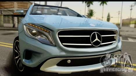 Mercedes-Benz GLA220 2014 для GTA San Andreas вид сзади слева