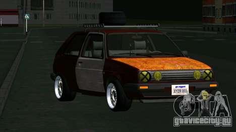 Volkswagen Golf II Rat Style для GTA San Andreas вид сзади