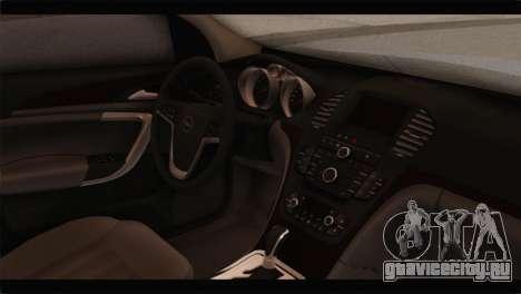 Opel Insignia Wagon для GTA San Andreas вид справа