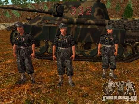 Немецкий офицер танковых войск для GTA San Andreas второй скриншот