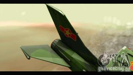 Mikoyan-Gurevich MIG-21UM Vietnam Air Force v2.0 для GTA San Andreas вид сзади слева