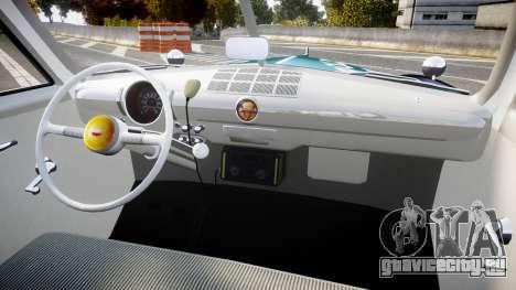 Ford Custom Deluxe Fordor 1949 New York Police для GTA 4 вид сзади