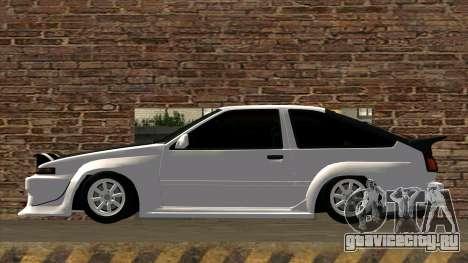 Toyota AE86 для GTA San Andreas вид слева