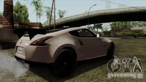 Nissan 370Z Nismo для GTA San Andreas вид слева