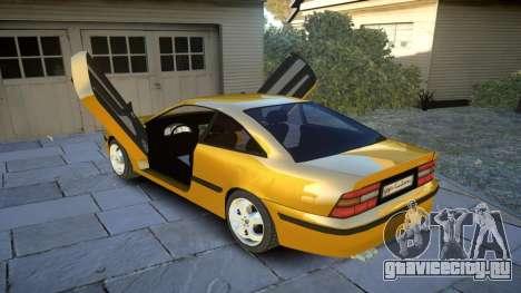 Opel Calibra v2 для GTA 4 вид сбоку