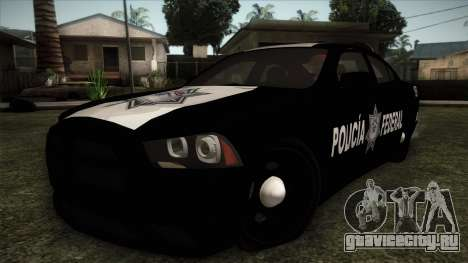 Dodge Charger 2013 Policia Federal Mexico для GTA San Andreas
