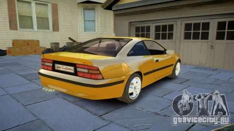 Opel Calibra v2 для GTA 4 вид сзади
