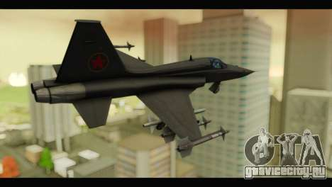 Northrop F-5E Top Gun для GTA San Andreas вид слева