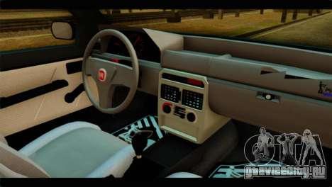 Fiat Uno Fire Mille для GTA San Andreas вид сзади слева