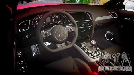 Audi S4 Avant 2013 для GTA 4 вид изнутри