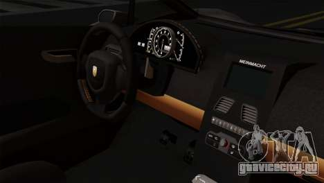 GTA 5 Pegassi Zentorno SA Style для GTA San Andreas вид справа