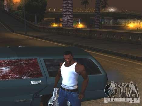 Кровь на окнах автомобиля для GTA San Andreas второй скриншот
