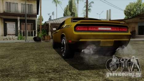 Dodge Challenger Yellow Jacket для GTA San Andreas вид сзади слева