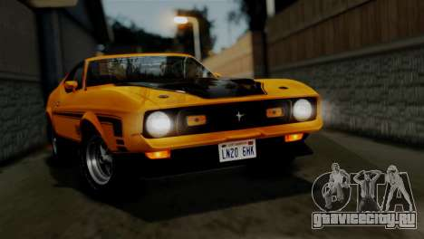 Ford Mustang Mach 1 429 Cobra Jet 1971 HQLM для GTA San Andreas