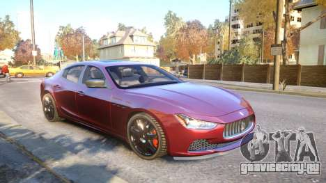 Maserati Ghibli 2014 v1.0 для GTA 4 вид сбоку