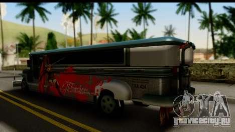 Patok Jeepney для GTA San Andreas вид слева