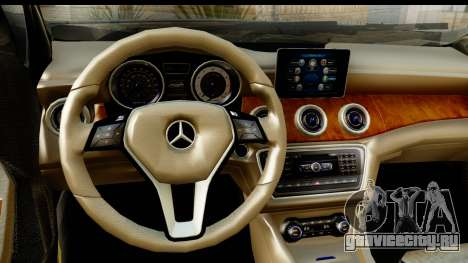 Mercedes-Benz GLA220 2014 для GTA San Andreas вид изнутри