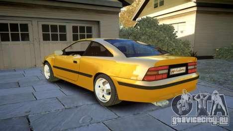 Opel Calibra v2 для GTA 4 вид сзади слева