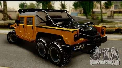 Hummer H1 6-Wheel для GTA San Andreas вид слева