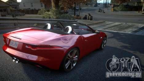 Jaguar F-Type v1.6 Release [EPM] для GTA 4 вид справа