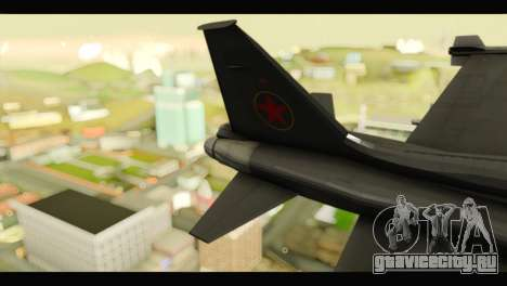 Northrop F-5E Top Gun для GTA San Andreas вид сзади слева
