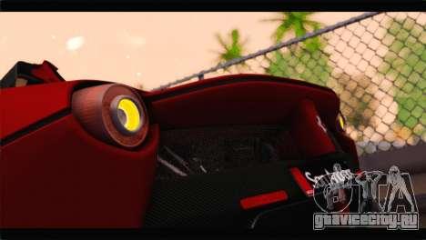 Ferrari LaFerrari 2014 для GTA San Andreas вид сбоку