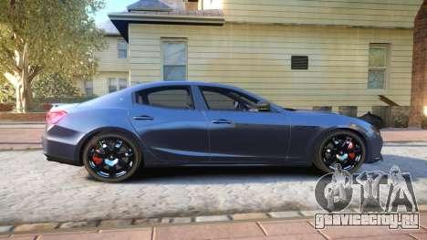 Maserati Ghibli 2014 v1.0 для GTA 4 вид сзади