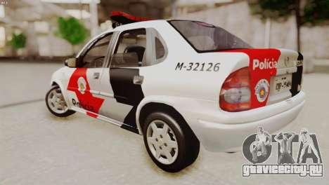 Chevrolet Corsa 2000 PMESP для GTA San Andreas вид слева